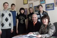 Встреча с  сыном солдата Замятиным Юрием Павловичем, 2013
